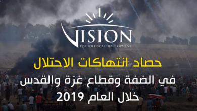 Photo of حصاد عام من انتهاكات الاحتلال ومستوطنيه في الأراضي الفلسطينية المحتلة خلال العام 2019