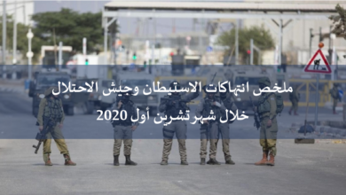 Photo of ملخص انتهاكات الاستيطان وجيش الاحتلال خلال شهر تشرين أول 2020