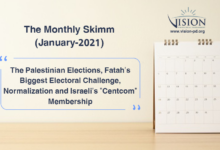 """Photo of The Monthly Skimm, January 2021: The Palestinian Elections, Fatah's Biggest Electoral Challenge, Normalization and Israeli's """"Centcom"""" Membership"""